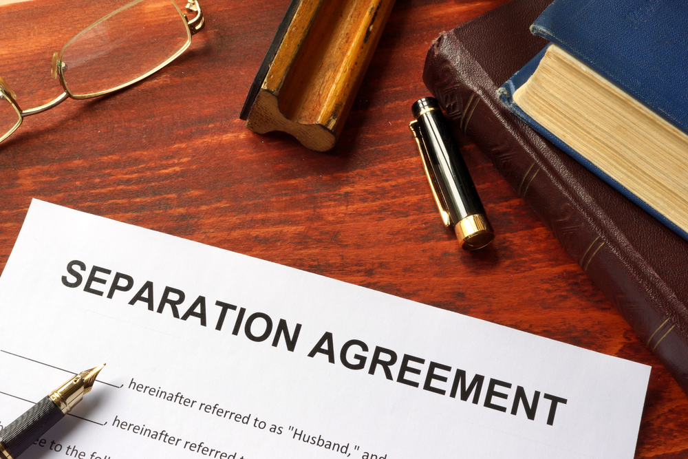 separation agreement and stipulation of statement
